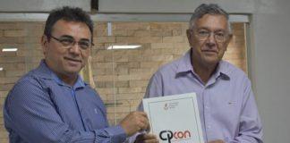 Reitor da UEPB, Rangel Júnior, e o prefeito de Guarabira, Zenóbio - Foto: Codecon / Divulgação.