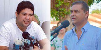 Vereador Renato Meireles (esquerda) e prefeito interino Marcus Diôgo (direita)